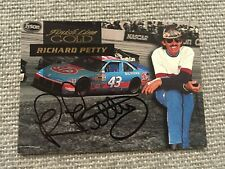 Richard Petty Finish Line Gold In Person Autograph card