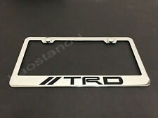 1x TRD STAINLESS STEEL LICENSE PLATE FRAME + Screw Caps (Style A)