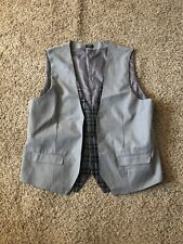 COOFANDY Men's Top Designed Business Slim Fit Skinny Vest Waistcoat GRAY XL