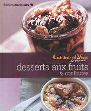 Livre Cuisine - Desserts aux fruits & confitures