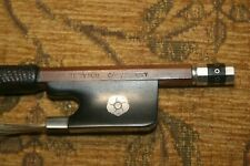 More details for h byrom (canterbury) 4/4 cello bow 28.25 inches with silver rose and mounting