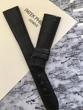 Unworn Patek Philippe Matte Black Alligator Band 20mm With 14mm End