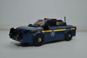 Police Car NYSP Cop Blue New York Custom Ford Interceptor LEGO Model