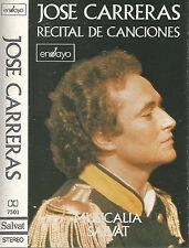 José Carreras English Chamber Orchestra RECITAL DE CANCIONES CASSETTE SALVAT