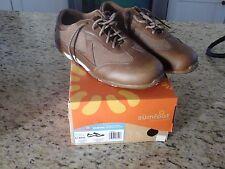 New Zumfoot Zamora Womens Mocha Leather/Linen Casual Sport Sneaker Size 41 Wide