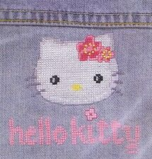 Hello Kitty Custo Cross Stitch Kit By DMC Using Waste Canvas