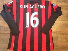 2011 2012 Manchester City Agüero L/S Camiseta De Fútbol adultos grandes Camiseta Jersey