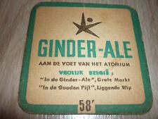 "1vieux SB de BELGIQUE  "" GINDER-ALE expo 1958 "" R/V en NL/FR"