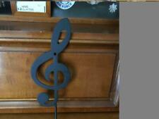 "Metal 10 1/4 "" Music Note Wall Hook Wall Hanger Treble Clef- Music"