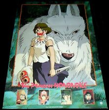1997 Princess Mononoke ORIGINAL B2 JAPAN POSTER Iconic Animation Hayao Miyazaki