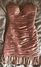 Evening dress GOLD/PEACH with rhinestones