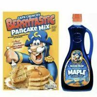 Cap'n Crunch Aunt Jemima Berrytastic Pancake Mix & Ocean Blue Maple Syrup Combo
