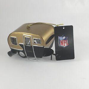 New Orleans Saints Metal Camper RV Replica Ornament NFL Football
