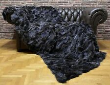 Luxury Real Fur Fox Throw Blanket