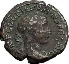 Gordian III 238AD  Big Authentic Ancient Roman Coin Zeus Jupiter Cult i55124