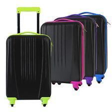 Trolley Koffer Handgepäck 4 Rollen Bordcase Hartschalenkoffer Bordgepäck Black