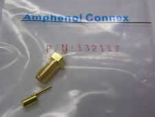 5 Amphenol Connex 132117 SMA Crimp Jack RG-174/U, 188A/U, 316/U AU Plated