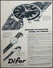 2435 PUBLICITÉ advertising MONTRE DIFOR BESANÇON NOT WATCH PRINT AD 1960
