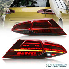 Para 13-18 VW Golf 7 MK7 Golf R GTI  Luces traseras LED de señal dinámica