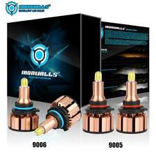 4x IRONWALLS 9005+9006 LED Headlight Kit 4000W 600000LM Hi/Lo Beam Bulbs 6000K