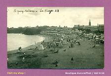 PHOTO CARTE-POSTALE 1920 : BRETAGNE, SAINT-QUAY-PORTRIEUX , LA PLAGE  - M90