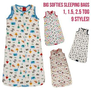 Baby Sleeping Bag Girls Boys 1 1.5 2.5 Tog Cotton Growbag Sleep Safety Blanket
