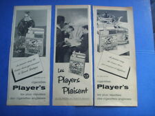 4) 3 publicites  cigarettes  anglaises:  player's