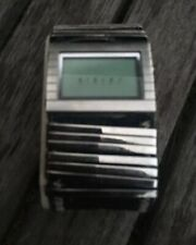 Mens Womens Sisley Digital Watch , Blue Jean Band With Silver Accents
