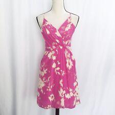 Yumi kim womens 100% silk goddess dress pink spaghatti strap pockets size xs