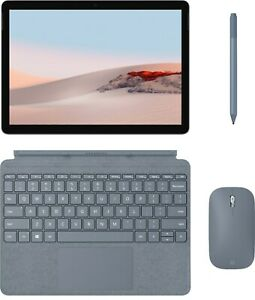 Microsoft Surface Go 2 Bundle: Blue Type Cover, Mouse, Pen + extra 256gb card