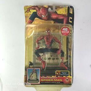 Spider-Man 2 (2004 Toy Biz) Super Poseable Action Figure w/ Magnetic Base NIB