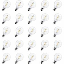 Pack Of 25 G40 Led Replacement Light Bulbs 1W Shatterproof Globe Bulb Fits E12