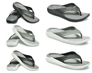 Crocs LiteRide Flip Flop Sandals Unisex Lightweight Padded Summer Holiday Beach