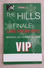 2008 12/22 MTV *THE HILLS* FINALE NYC BACKSTAGE PASS VIP TV SHOW