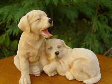 Leonardo Resin Dogs Golden Labrador Puppies Bnew Gift