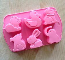 Cake Mold Soap Mold  6-Animal Dog Flexible Silicone Mould For ice lattice tray