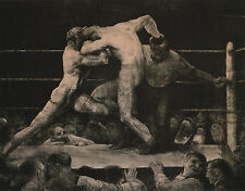 George Bellows, New York BOXING,Irish fighters, Stag Sharkey's, 20x16 CANVAS ART