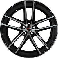 Set of 4 GWG Wheels 18 inch Black Machined ZERO 18x8 Rims 5x112 ET40 CB74.1