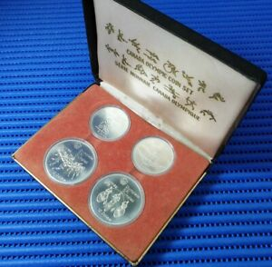 1976 Canada 2X $10 & 2X $5 Montreal XXI Olympiad Commemorative Silver Coin Set