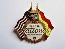 INSIGNE USA ESPAGNE : CPC NATIONAL MADRID 1959 / CENTURY POINT CLUB