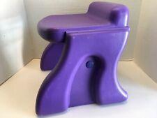 Little Tikes Purple Stool Chair Seat Child Size Art Desk Vanity