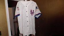 Vintage New York Mets Throwback Baseball Pinstripe Starter Jersey XL Nice!
