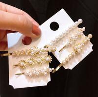 3Pcs/set New Girls Women Pearl Flower Hair Clips Set Pin Hair Clip