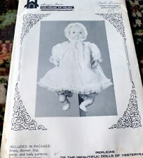 """RARE VTG 15"""" BABY DOLL CLOTHING SEWING PATTERN"""