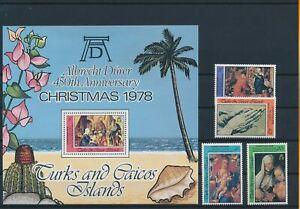 LN23212 Turks & Caicos christmas religious art fine lot MNH