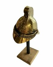More details for x-mas rare brass finishing fireman helmet nsw fb fire brigade rider fire fig