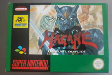 Super Nintendo-SNES-Hagane The Final Conflict Near Mint cib rar VGC PAL