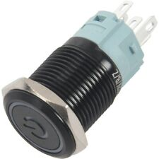 16mm Blue On Off LED 12V Latching Push Button Power Switch Waterproof P2J5