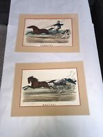 Original Currier & Ives Print Set By Lipschitz Bolted And Unbolted Pair Litho