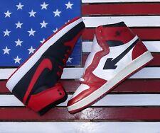 Air Sang 1985 Nike Jordan 1 BANNED Chicago I Bred Red Black AJKO Rare VTG OG Lot